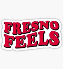 Fresno Feels College Town Pride City Love Vibes Sticker