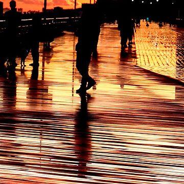 Boardwalk Sunset by croper