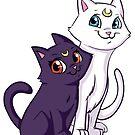 Luna and Artemis by Danielle Gransaull