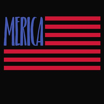Merica Patriotic 4th of July Shirt by ShirtPro
