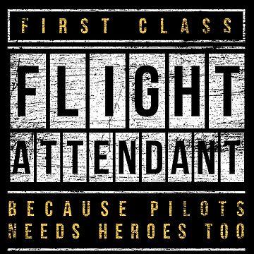 Flight attendant pilot by GeschenkIdee