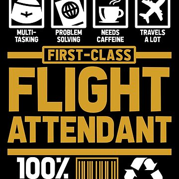 Multitasking flight attendant by GeschenkIdee