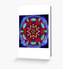 Colorful Flower Mandala Greeting Card