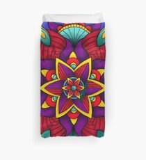 Colorful Flower Mandala Duvet Cover