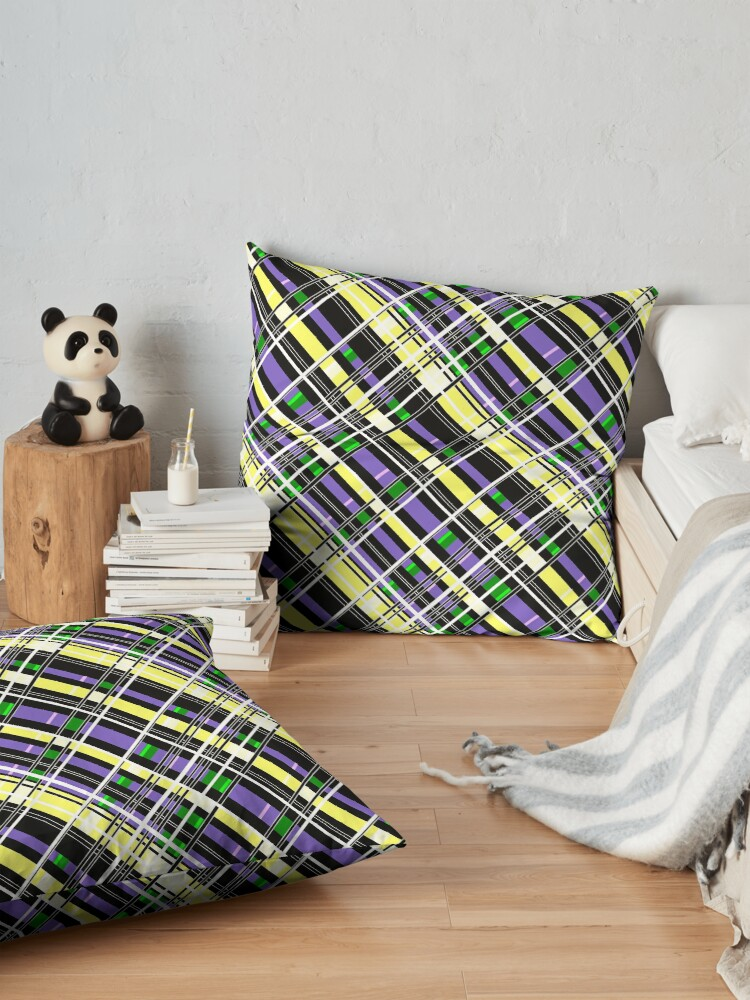 Alternate view of Striped pattern Floor Pillow
