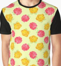Yellow and Pink Roses Graphic T-Shirt