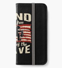 Distressed Land of the Free Veterans iPhone Wallet/Case/Skin