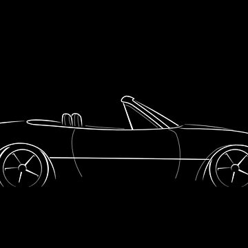 Mazda Miata MX-5 NA - profile stencil, white by mal-photography