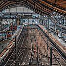 The Empty Train Station by JohnKarmouche