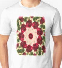 Old Red Rose Kaleidoscope 13 Unisex T-Shirt