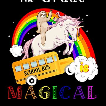 1st grade is magical unicorn bus by DBA-Dezines