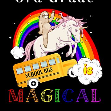 3rd grade is magical unicorn bus by DBA-Dezines