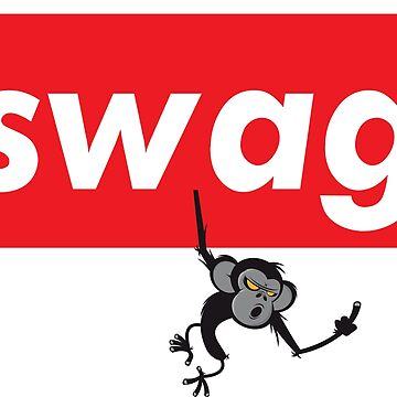 Swag Monkey Hanging Words Millennials Use Cool You by ProjectX23