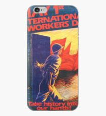 """Take history into our hands!"" Mayday poster, United States, 1980s iPhone Case"
