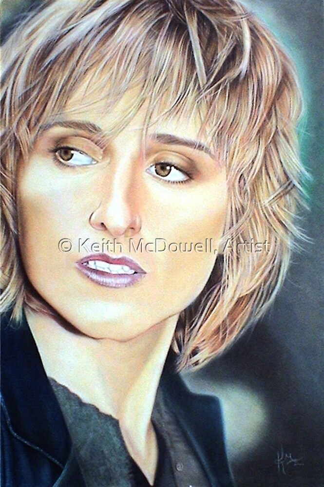Melissa Ethridge Color Pencil @ www.KeithMcDowellArtist.com by © Keith McDowell, Artist