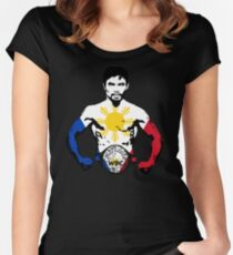 MANNY PACQUIAO Women's Fitted Scoop T-Shirt