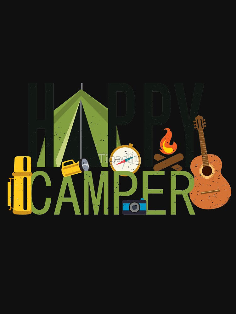 Happy Camper Camping Lover Gift by Tigarlily