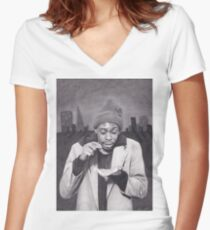 Tyrone Biggums (Dave Chappelle) in the Tenderloin Women's Fitted V-Neck T-Shirt