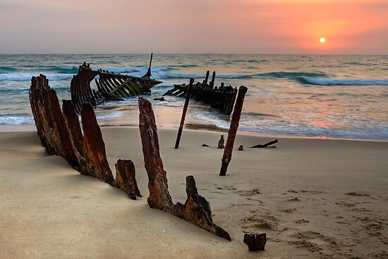 Red Dawn • Dicky Beach • Queensland by William Bullimore