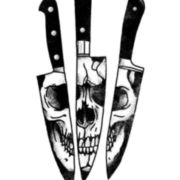 Knives And Skull Gothic Style Horror by ClothingSimple