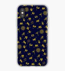 Zodiac Blue & Gold iPhone Case