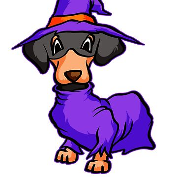 dachshund witch by 8fiveone4