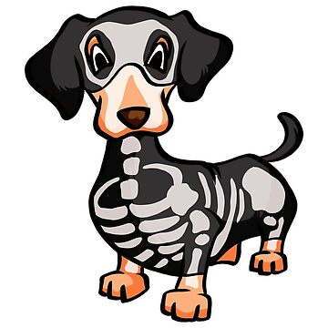 dachshund skeleton by 8fiveone4