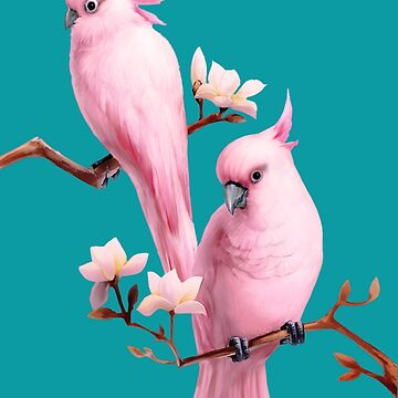 Pink Cockatoos by Skyviper