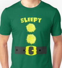 Sleepy Snow White 7 Zwerge Bashful Sneezy Dopey Glücklich Mürrisch Doc Slim Fit T-Shirt