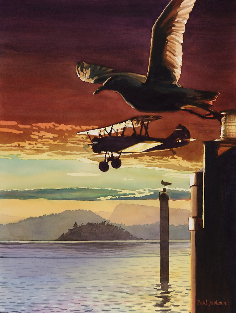 """Landing Patterns"" Watercolor by Paul Jackson"