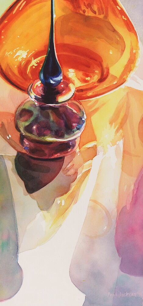 """Tyler Glass"" Watercolor  by Paul Jackson"