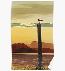"""Orcas Island Sunset"" Watercolor Poster"