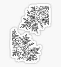 Pegatina Flores - Blanco y negro