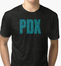 PDX Portland Airport Carpet Oregon Tri-blend T-Shirt