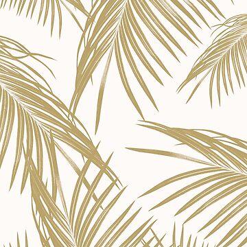 Gold Palm Leaves Dream #1 #tropical #decor #art  by anitabellajantz