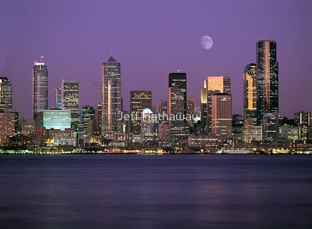 Quot Seattle Washington City Skyline At Night Quot By Jeff