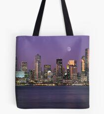 Seattle, Washington city skyline at night Tote Bag