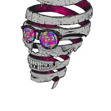 Strange Skull Art by ClothingSimple