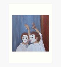 Marcel - through a glass darkly Art Print
