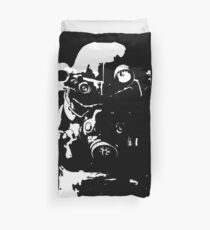 Fallout 3, Fallout New Vegas, Fallout 4 - T45 Power Armour Silhouette Duvet Cover