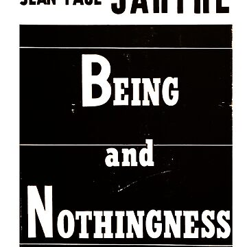 Being and Nothingness Jean-Paul Sartre First Edition Cover by buythebook86