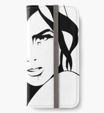 Black Ink Portrait #3 (Ink) iPhone Wallet/Case/Skin