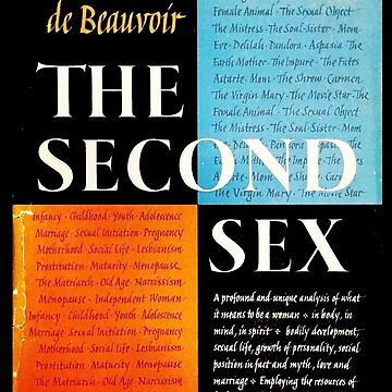 The Second Sex Simone de Beauvoir First Edition Book Cover by buythebook86