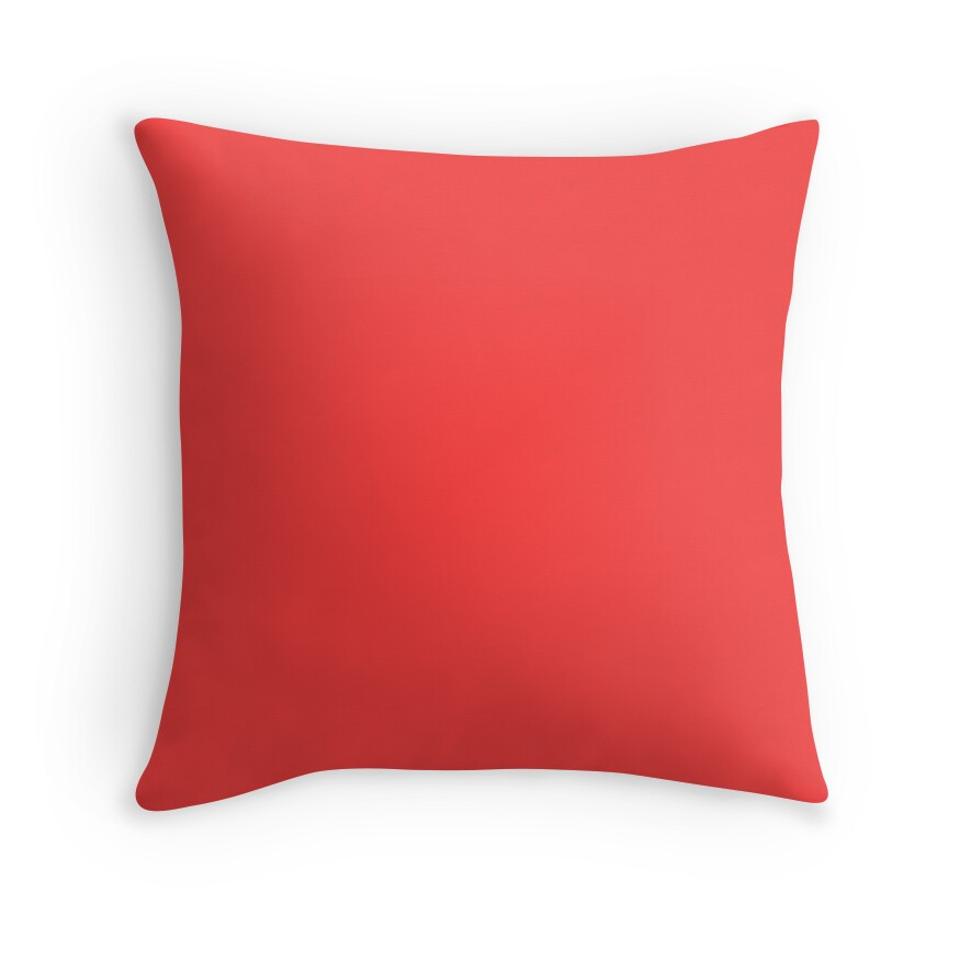 beautiful cushions plain coral red throw pillows by
