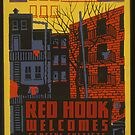 """H.P. Lovecraft Travel Poster: Red Hook (""""The Horror at Red Hook"""") by futurilla"""