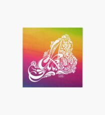 Henna Paisley Monogram A - LGBTQ Gay Pride Love Art Board