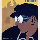 """H.P. Lovecraft Travel Poster: Graveyard Tours (""""Statement of Randolph Carter"""") by futurilla"""