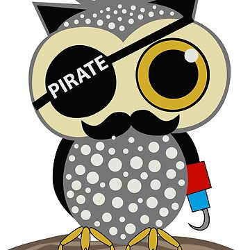 Owl Pirate Great Fashion T-Shirt by andalit
