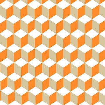 Diamond Repeating Pattern In Russet Orange and Grey by taiche