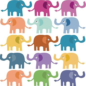 Colorful Elephants Great Fashion T-Shirt by andalit